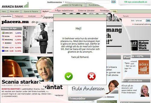 avanza-popup-webbplatsundersokning