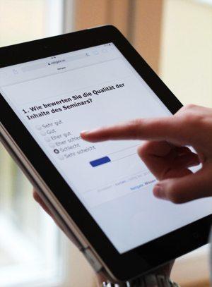 Mobile Befragungen auf dem Tablet