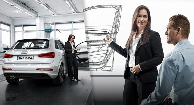 Audi Mitarbeiterin Mitarbeiterengagement