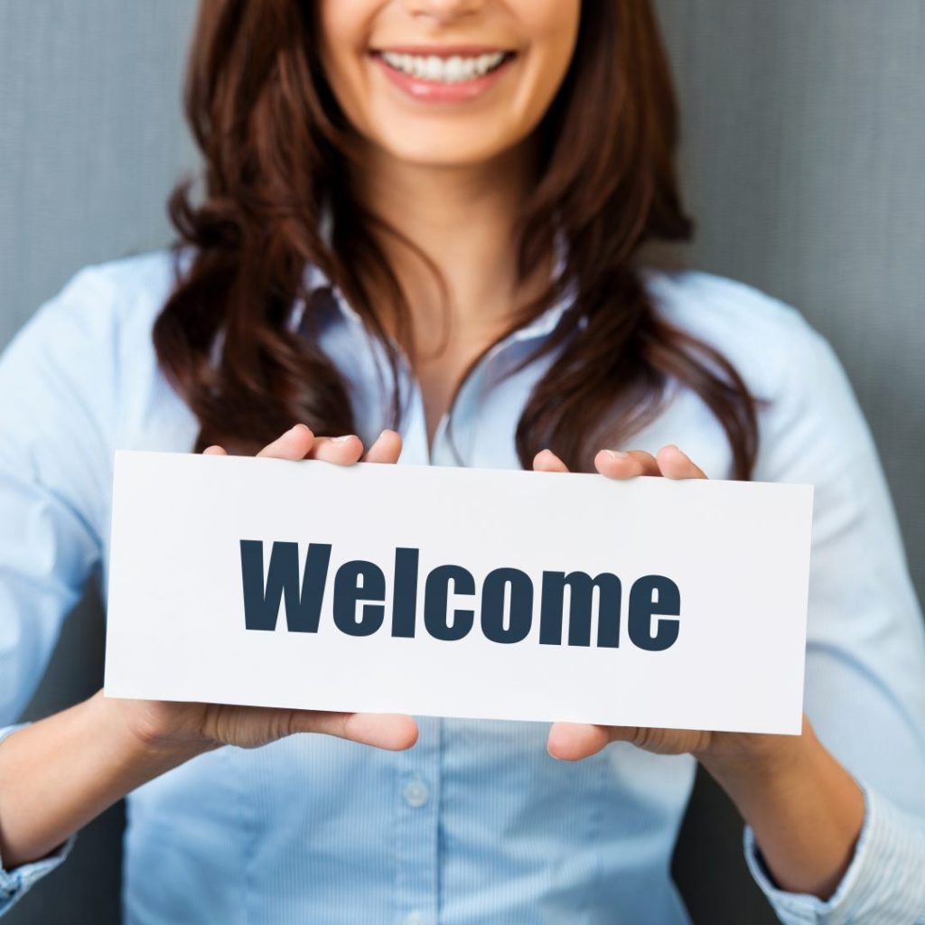 Welcome Sign - improve your employee onboarding process