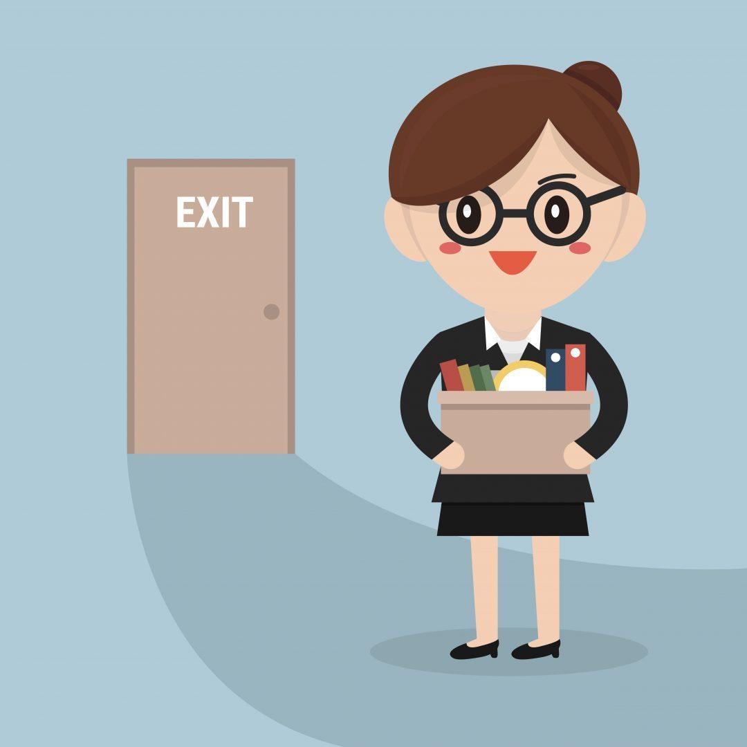 En medarbetare lämnar företaget