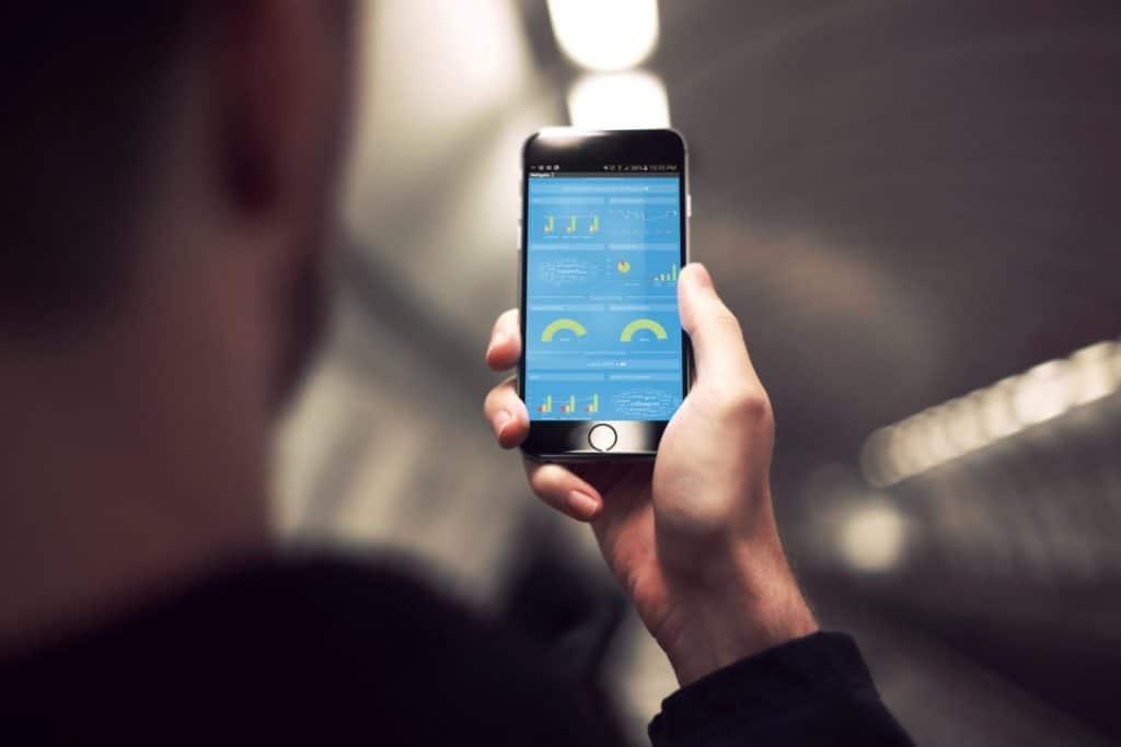 Online surveys in a mobile app