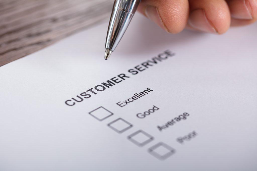 Beispiel für ein Kundenservice-Formular