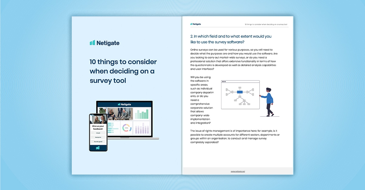 The buyer's guide to survey software