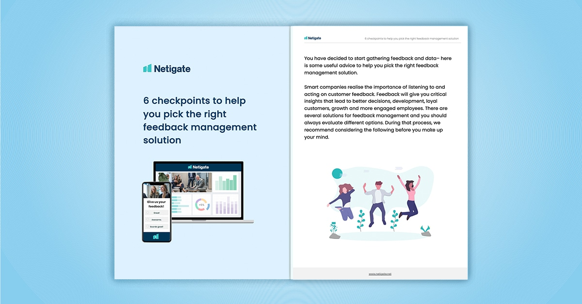 6 checkpoints to help you pick the right feedback management solution