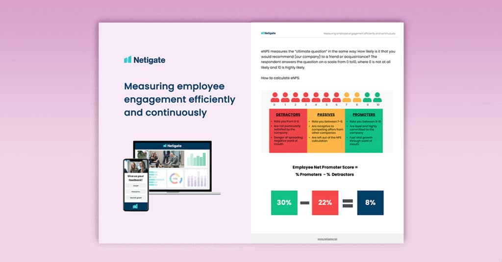 Measuring employee engagement efficiently and continuously