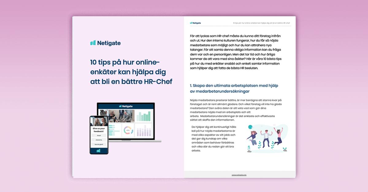 10 tips på hur online-enkäter kan hjälpa dig att bli en bättre HR-chef