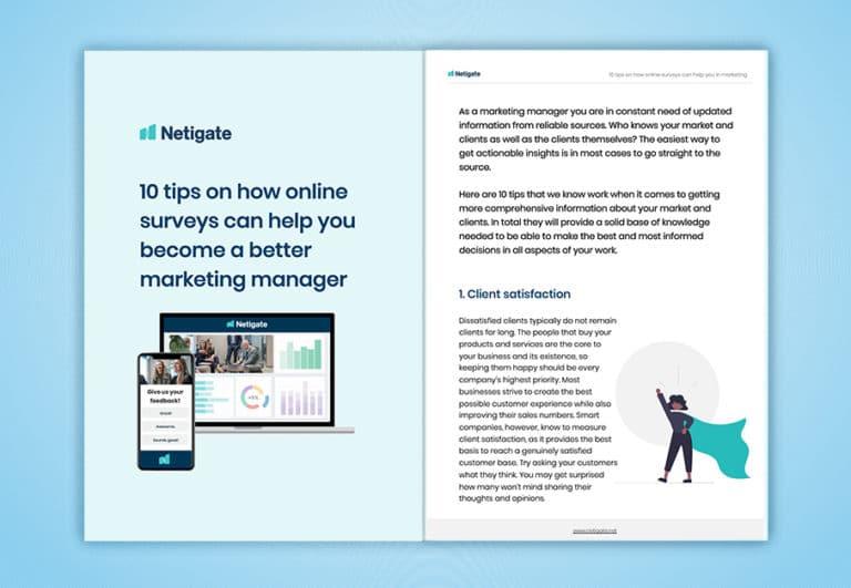Marketing manager_10 tips_Netigate_eBook