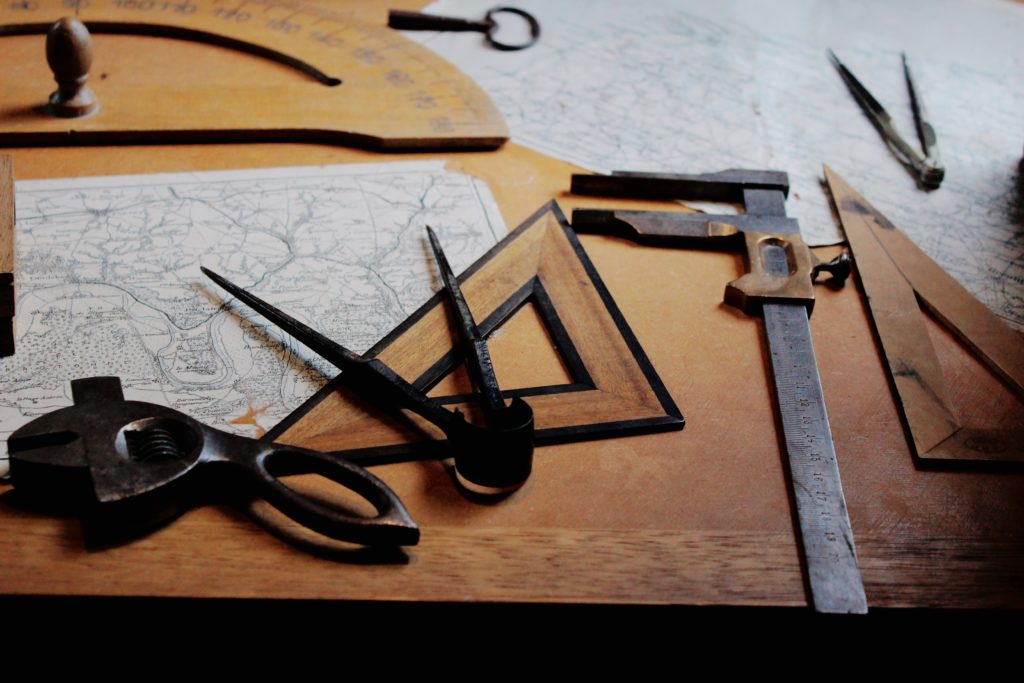 Picture of tools on a table