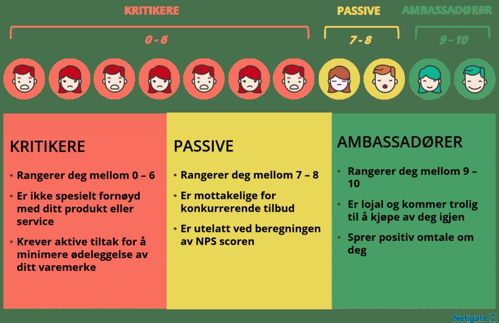 Grafisk illustrasjon over nps ambassadører