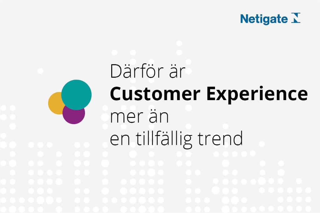 Customer Experience - Kundupplevelse - Netigate