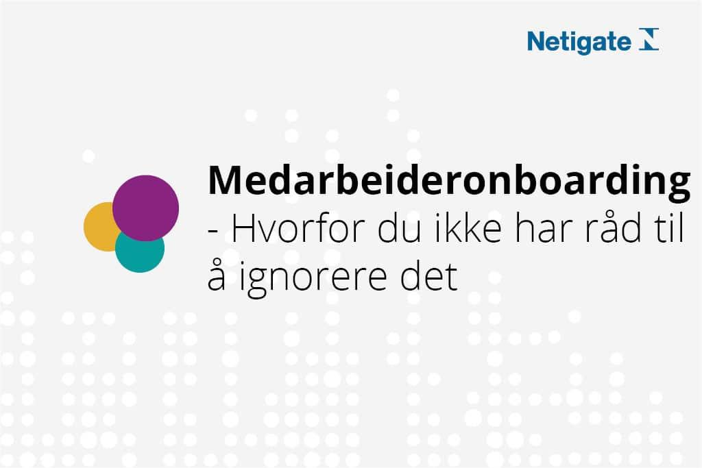 onboarding Netigate Norway
