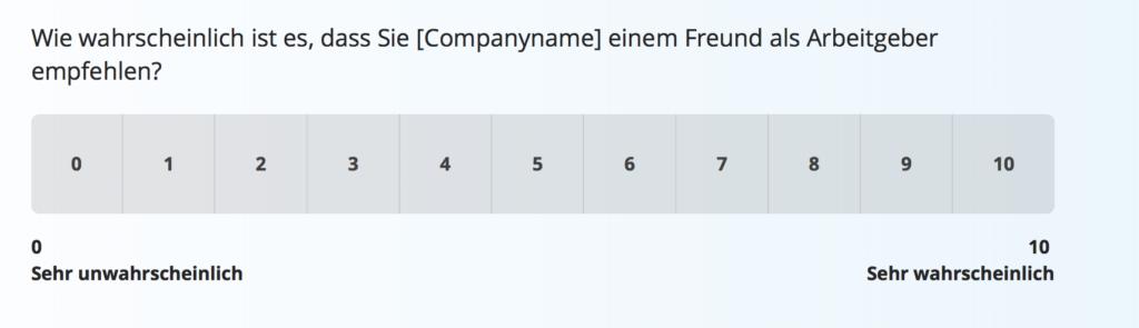employee Net Promoter Score Fragebogen-Vorlage