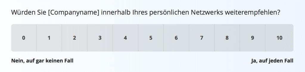 Net Promoter Score Umfragevorlage