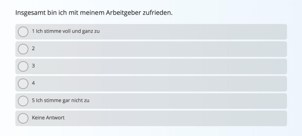 Mitarbeiter Engagement Umfrage Vorlage