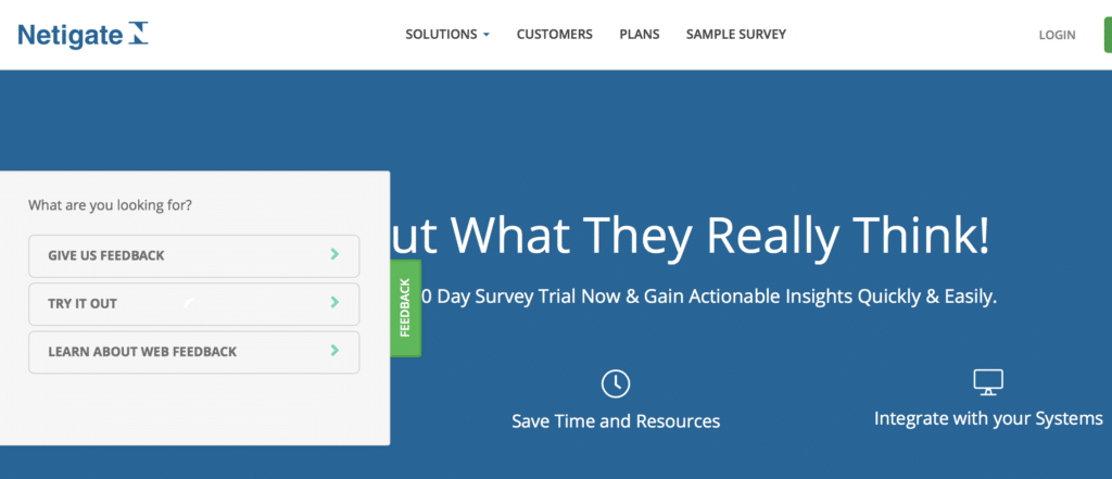 Umfragevorlage für Website-Feedback