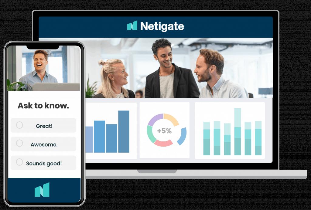welcome to Netigate screen