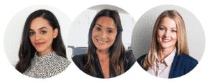 Natasha Ellis-Knight, Nathalie Taub, Caroline Trossen