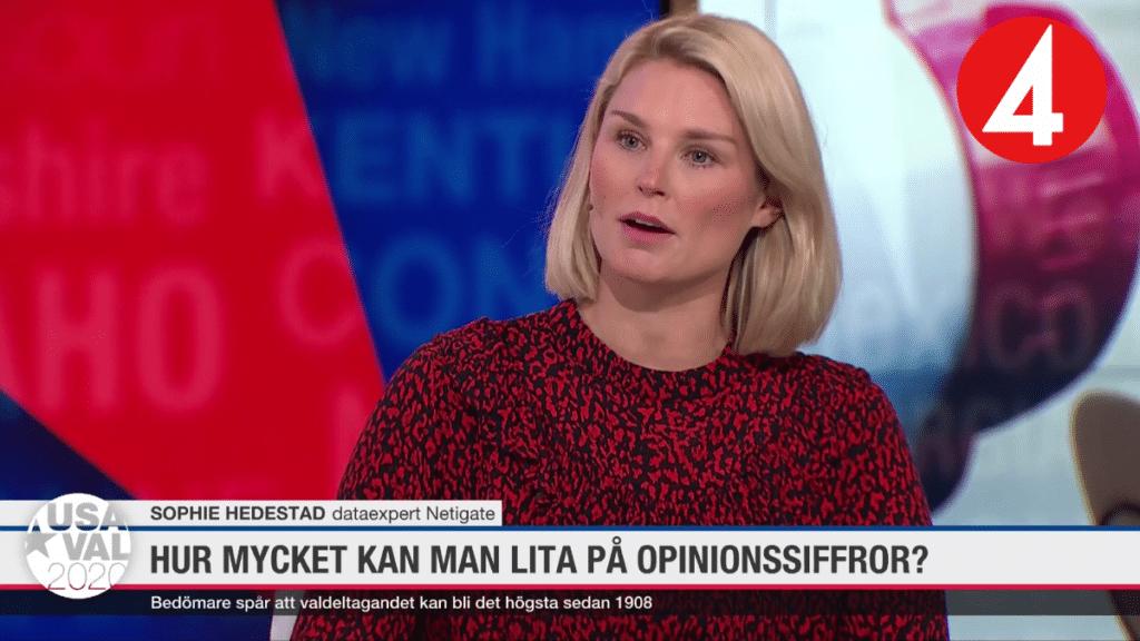 Netigate i TV4: Valet i USA – kan man lita på opinionsundersökningarna?