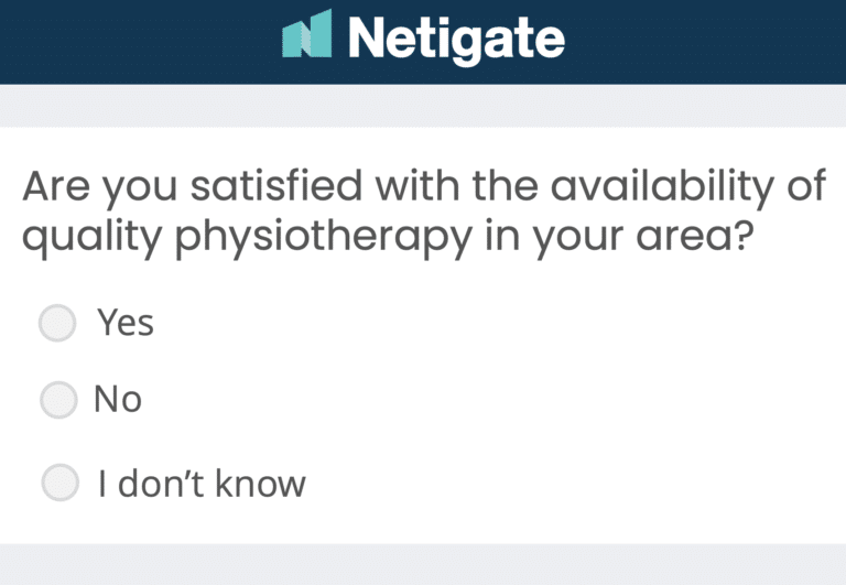 Healthcare opinion poll with Netigate