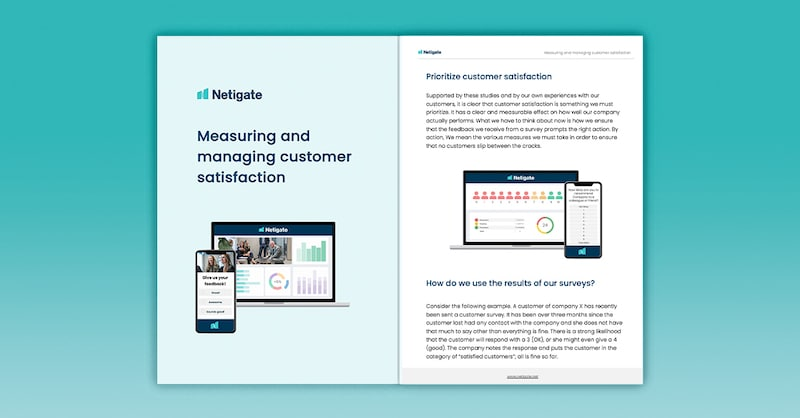 Measuring and managing customer satisfaction