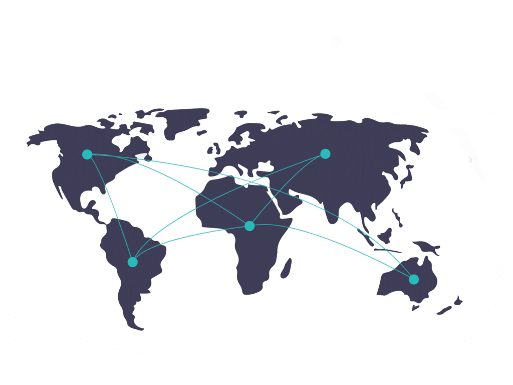 world map connected